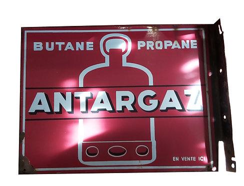 Plaque émaillée double faces Antargaz.