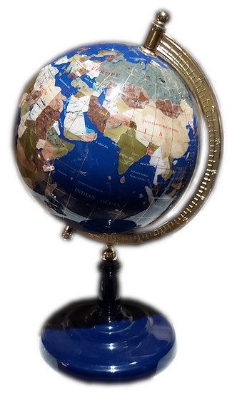 Globe terrestre en lapis-lazuli.