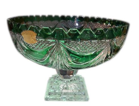 Grande coupe art déco en cristal taillé val st-Lambert.
