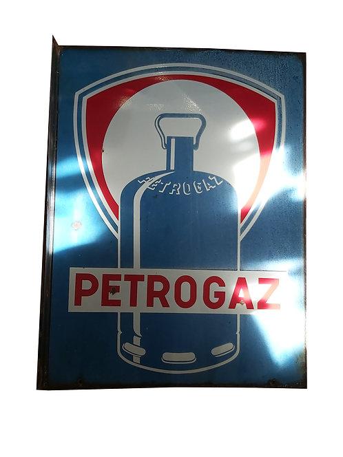 Plaque émaillée double faces Petrogaz.