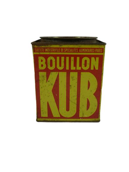 Ancienne boite bouillon KUB.