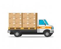 camion-livraison-isole-dessin-anime-plat