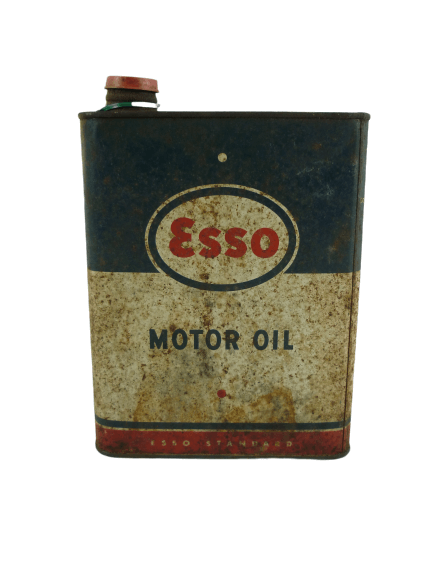 Ancien bidon d'huile ESSO.