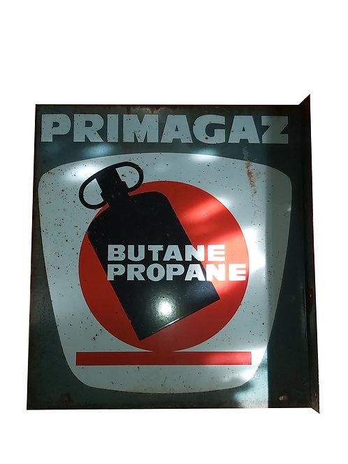 Plaque émaillée double faces Primagaz.