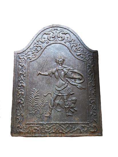 Plaque en fonte XVIII eme.
