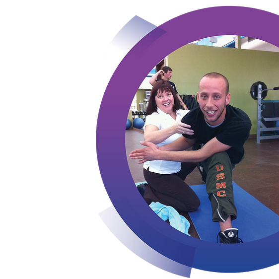 Healthy Minds Healthy Bodies participant and instructor