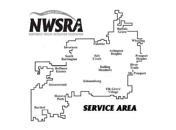 NWSRA Service Area map