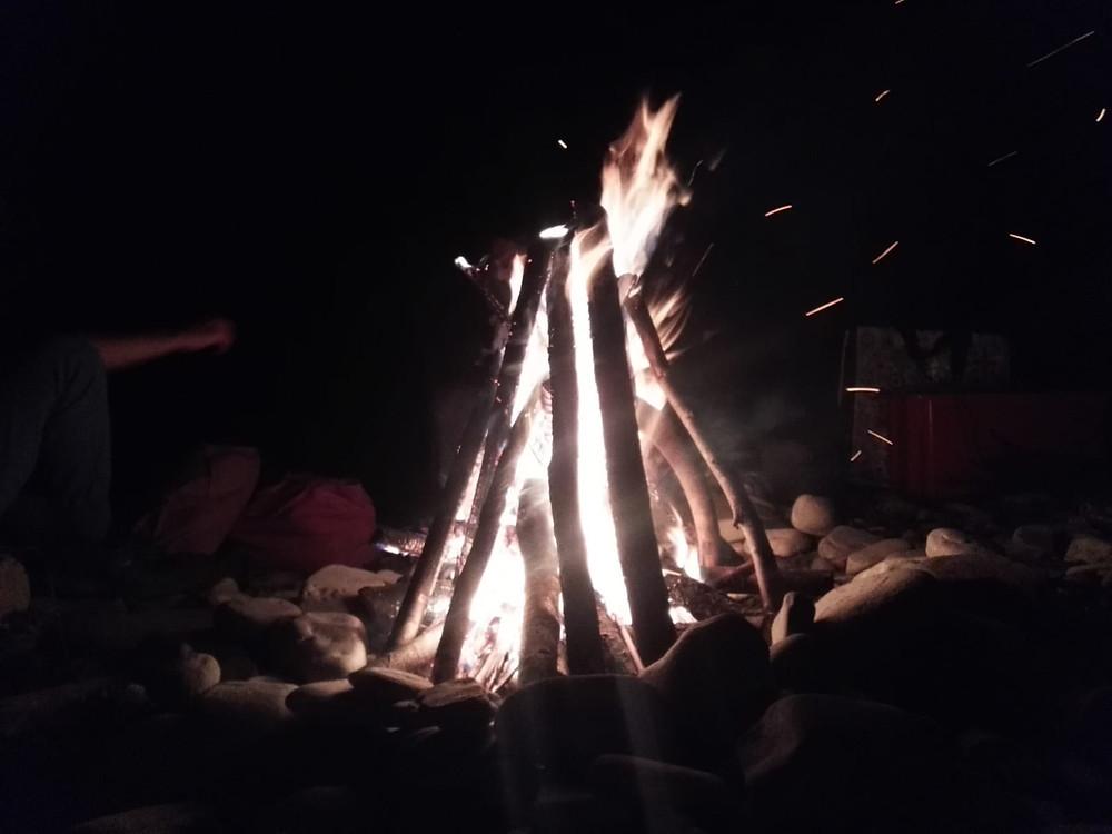 Il fuoco rituale.