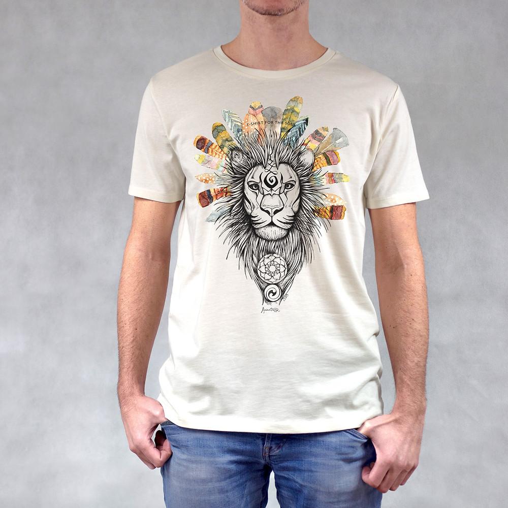 T-shirt uomo stampa Leone