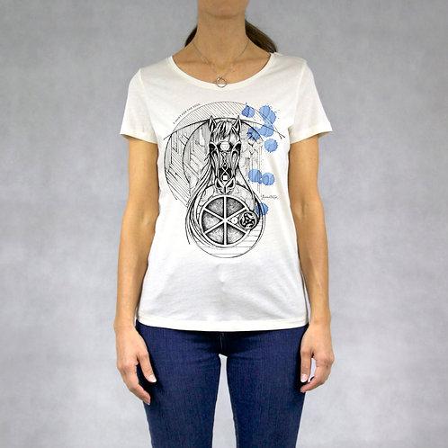 T-shirt donna stampa Cavallo
