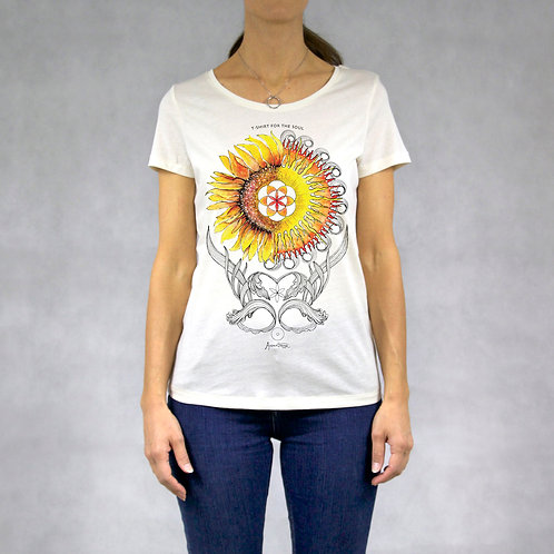 T-shirt donna stampa Sole