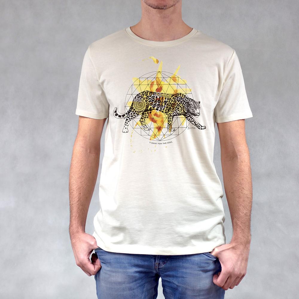 T-shirt da uomo stampa Giaguaro