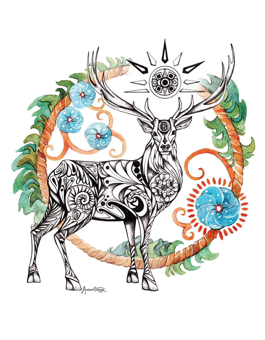 Disegno del Cervo - Animale Guida