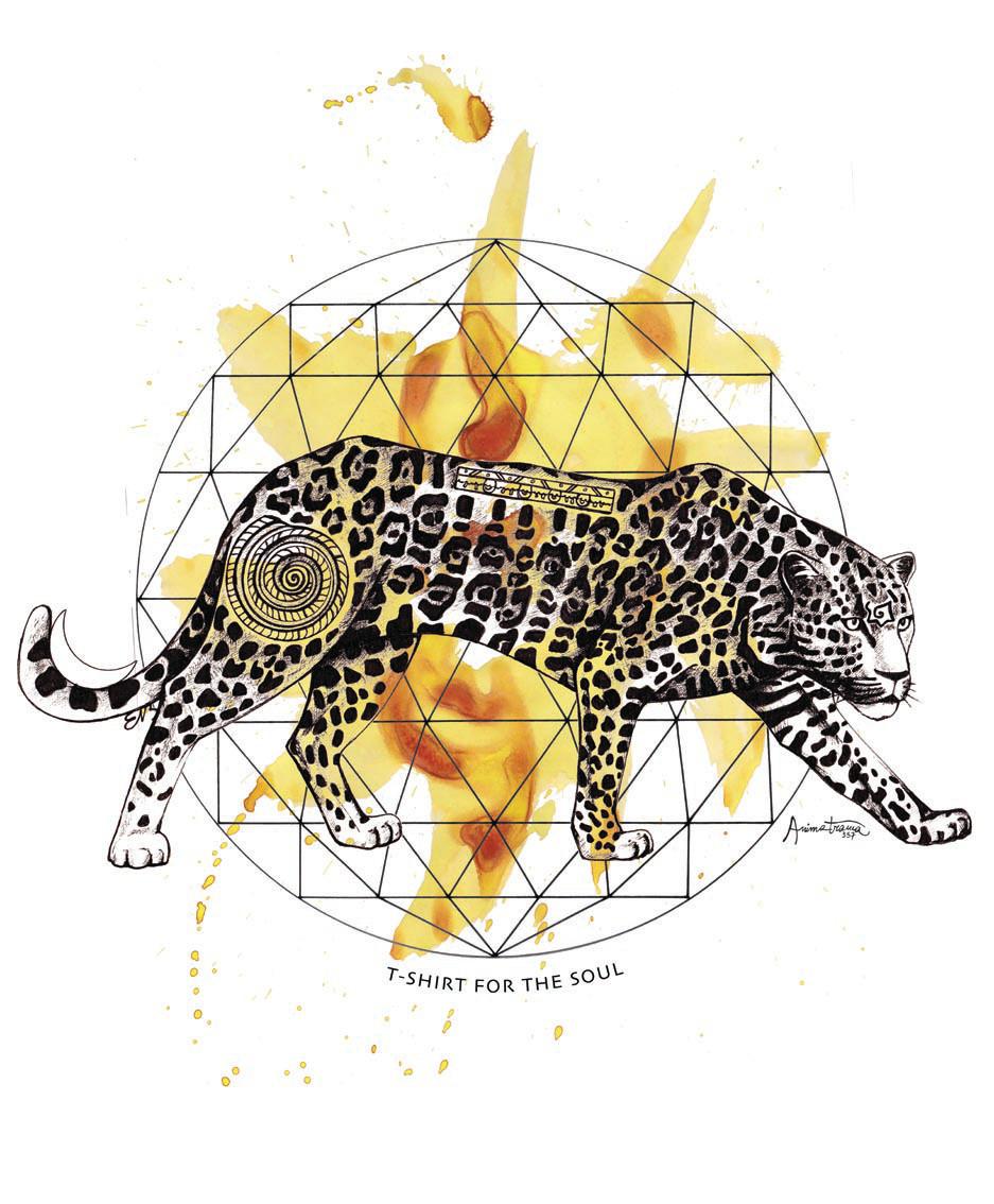 Giaguaro, disegno fatto a mano disegno fatto a mano con china e acquerello.