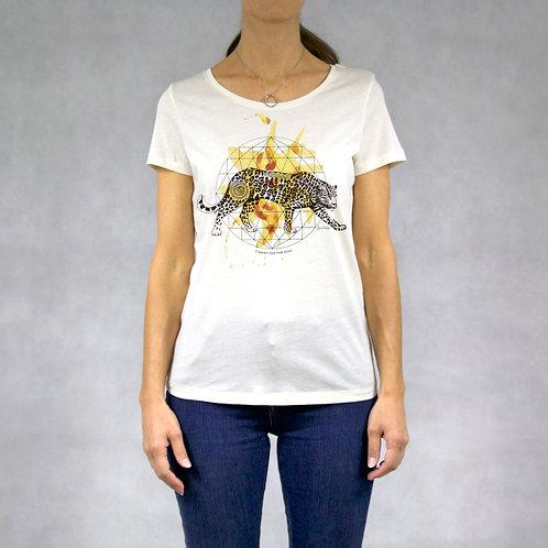 T-shirt donna stampa Giaguaro