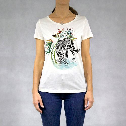 T-shirt donna stampa Tigre