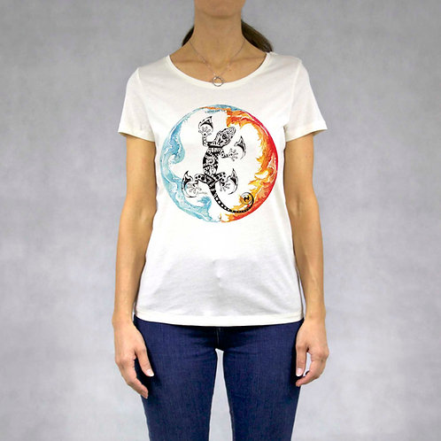 T-shirt donna stampa Geco
