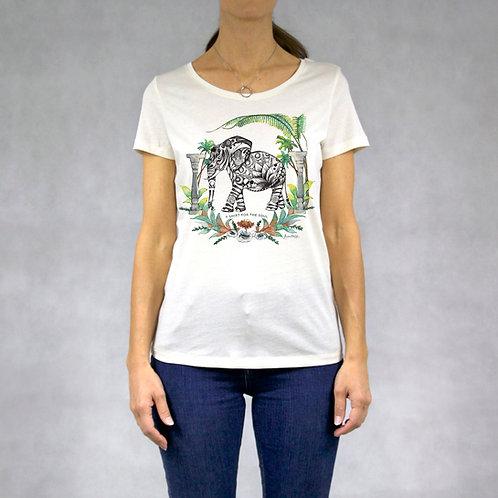 T-shirt donna stampa Elefante