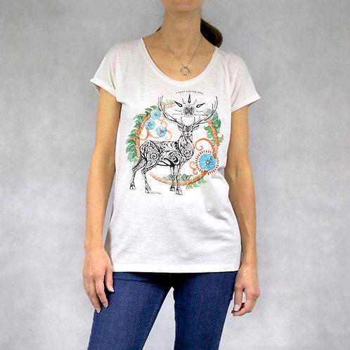 T-shirt donna stampa Cervo