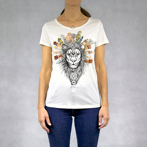 T-shirt donna stampa Leone