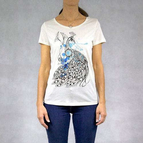 T-shirt donna stampa Pavone