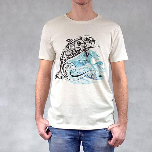 T-shirt uomo stampa Delfino