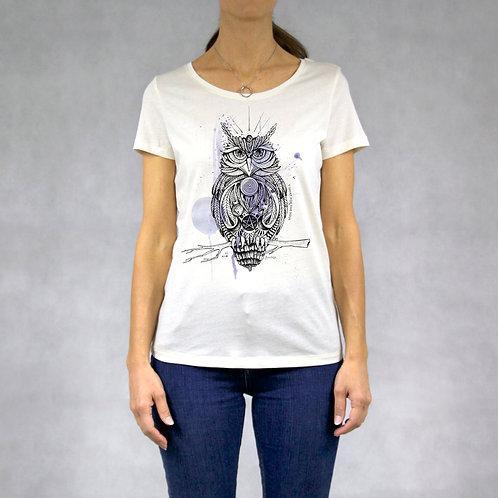 T-shirt donna stampa Gufo
