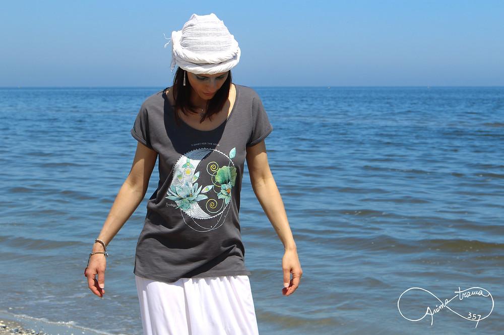 T-shirt donna stampa Luna