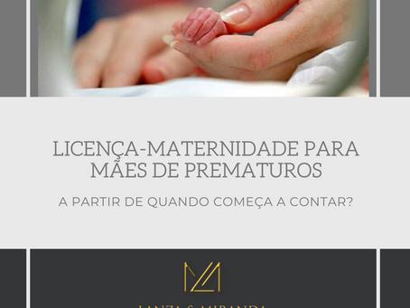 PROJETO DE LEI VISA PRORROGAR LICENÇA-MATERNIDADE PARA MÃES DE PREMATUROS