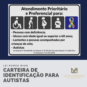 LEI ROMEO MION INSTITUI A CARTEIRA DE IDENTIFICAÇÃO PARA AUTISTAS