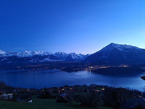 Niesen and Lake of Thun, Switzerland