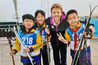 Beijing Roller Ski Kids with Sarah Lewis