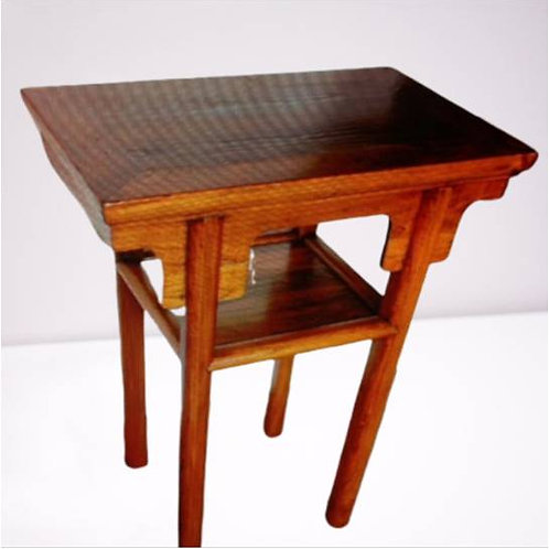 Handcrafted Elm wood Stool or small table