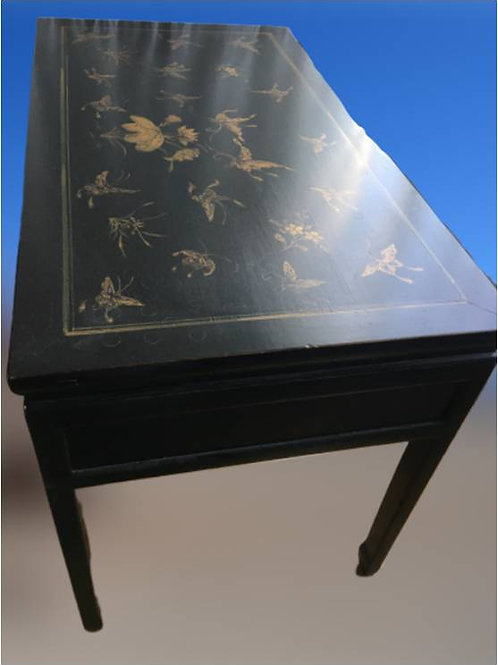 Hand printed Butterflies Desk with two drawers on each side