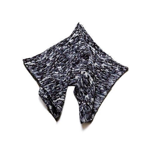 Silk scarves / pocket handkerchiefs - Grey print