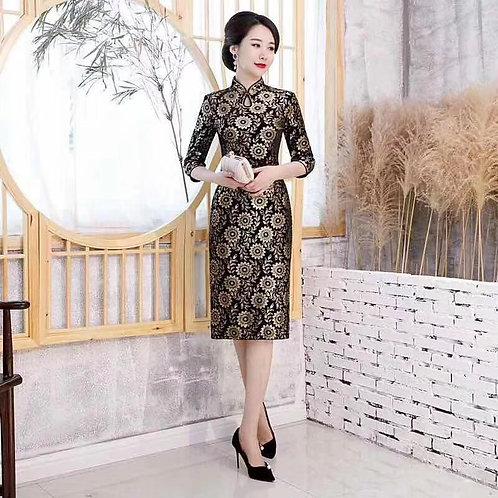 QiPao Dresses chrysanthemum pattern