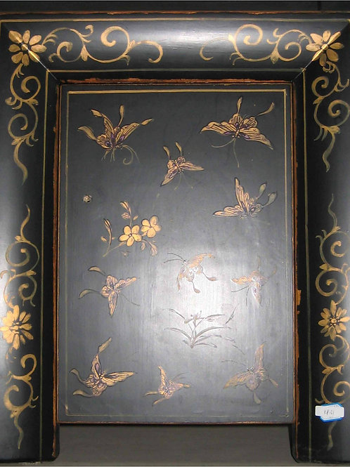 Handprinted Cabinet with Butterflies and Flowers