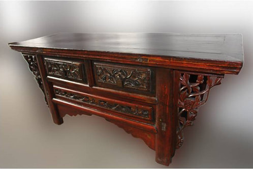 Antique elm side table