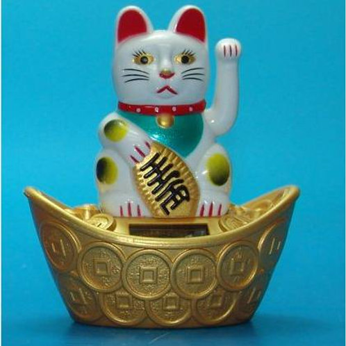 Lucky Cats, solar powered (11cm)