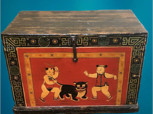 Beautiful trunk with pictures of children and animals