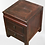 Thumbnail: Old style bedside or corner table with two drawers