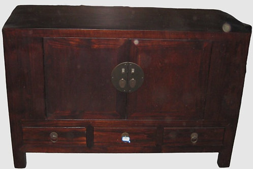 Korean/Japanese Asian Cabinet with 2 doors and 3 drawers