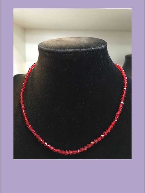 Crystal bead necklace (various colours)