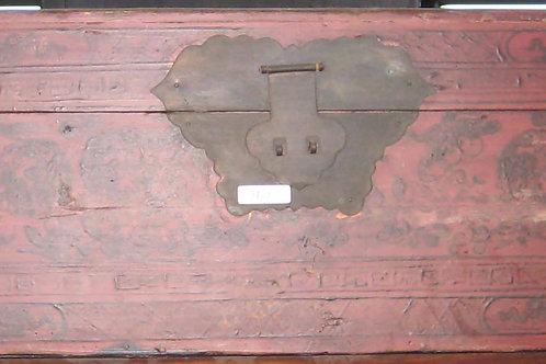 Antique fir wood chest