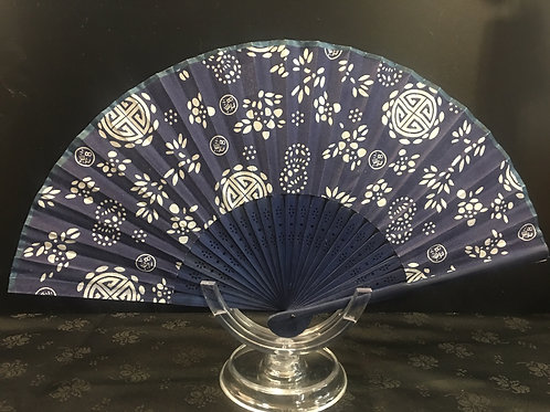 Fan - Dark blue with celtic cross