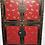 "Thumbnail: Handprinted Wedding cabinet with four doors, handprinted  ""lucky"" butterflies"