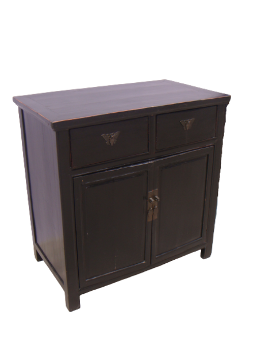 Cabinet with one drawer and two doors, elm wood