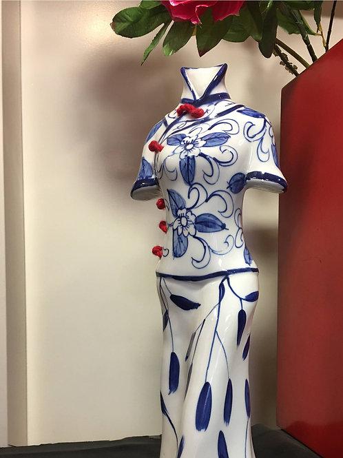 Beautiful, unique, fine porcelain of a white figurine
