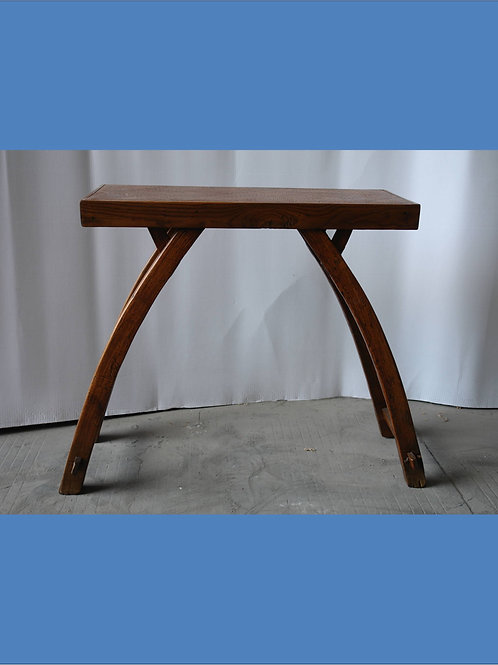 Unique elm wood stool with cane top