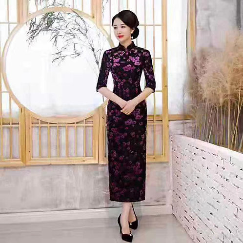 QiPao Dresses with flower outlines
